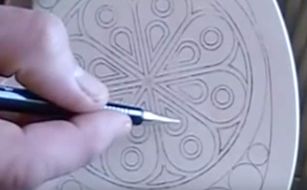 chip carving patterns making pencil designs