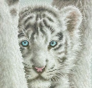 dimensions lion everything cross stitch close up