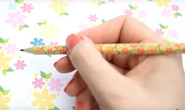 pencil washi tape ideas