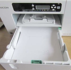 ricoh dye sublimation printer front paper drawer