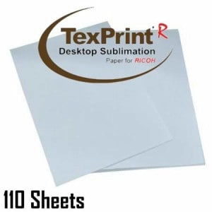 texprint sublimation transfer paper 110 sheets imagee