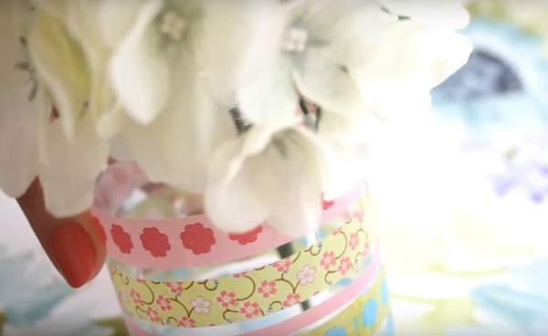 washi-tape-glass-jar-flower-vase