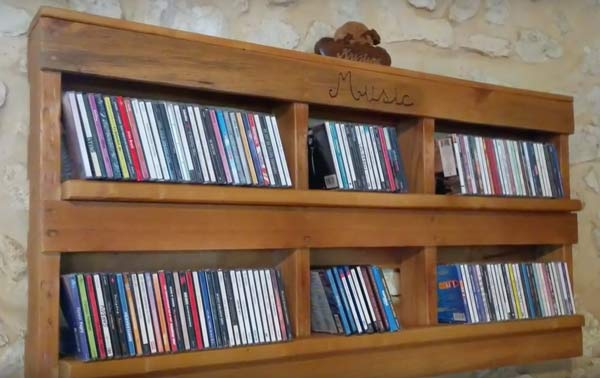 furniture made from pallets cd music racks