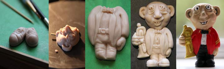 types of sculpting clay model made in sections