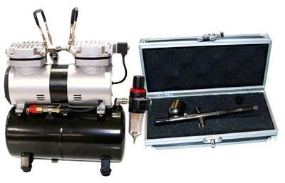 BADGER-Renegade-Velocity-R1V-Set-Airbrushing-System-with-AirBrush-Depot-TC-20-Tankless-Air-Compressor-6-ft-hose-Kit