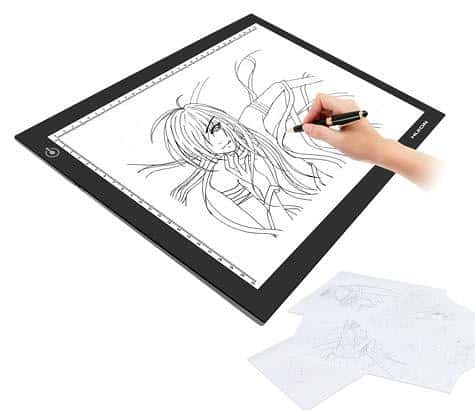 how to use lightbox for drawing tracing and design work