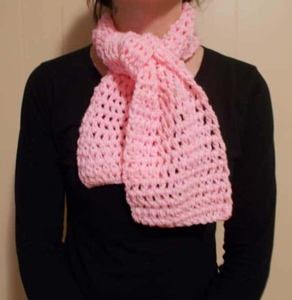 PINK CROCHET SCARF IMAGE love to crochet