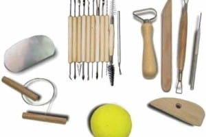 Clay sculpting and sculpting tools