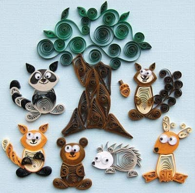 Creations Forest Buddies Quilling supplies Kit