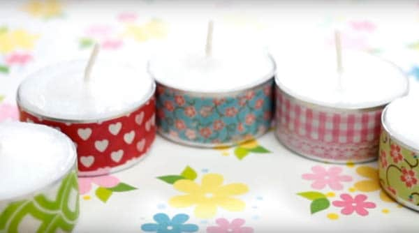 washy tape ideas candles full set