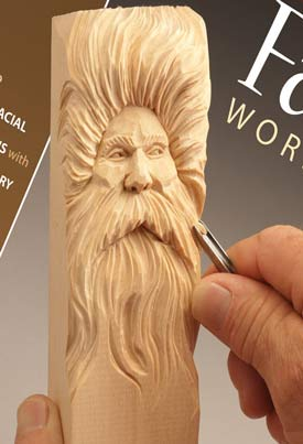wood carving illustrated faces workbook head