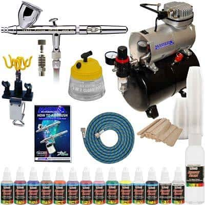 IWATA-HP-CS-Eclipse-AIRBRUSH-Kit-With-Airbrush-Depot-Tank-Compressor