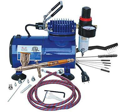 Paasche-TG-100D-Gravity-Feed-Airbrush-Compressor-Package