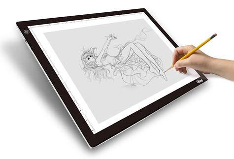 Litup L Lightbox - one of the larger sized lightboxes for drawing sketching and tracing