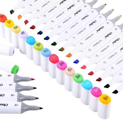 best markers for coloring ohuhu 40 pen set