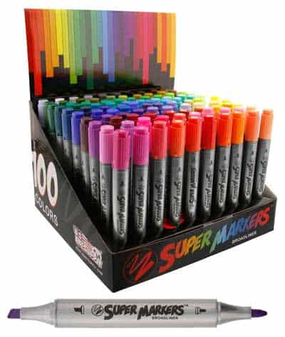 best markers for coloring super markers 100 pens