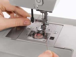 singer sewing machine threading the needle bobbin