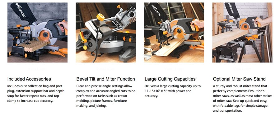5 Top Rated Compound Miter Saws evolution